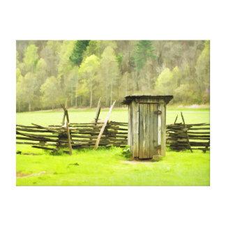 Smoky Mountains Outhouse Canvas Print