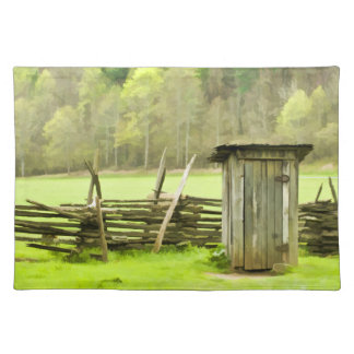 Smoky Mountains Outhouse Cloth Placemat