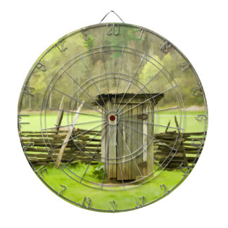 Smoky Mountains Outhouse Dartboard