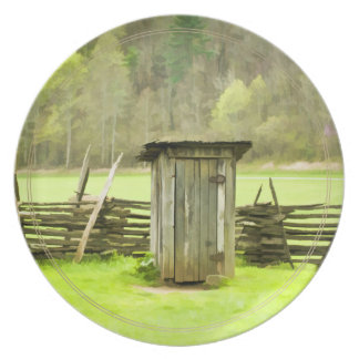 Smoky Mountains Outhouse Dinner Plate