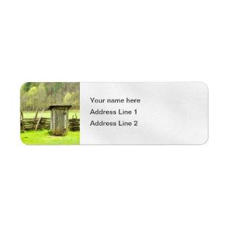 Smoky Mountains Outhouse Label