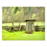 Smoky Mountains Outhouse Photo Print