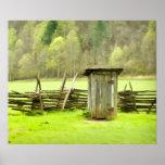 Smoky Mountains Outhouse Print