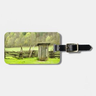 Smoky Mountains Outhouse Tag For Luggage