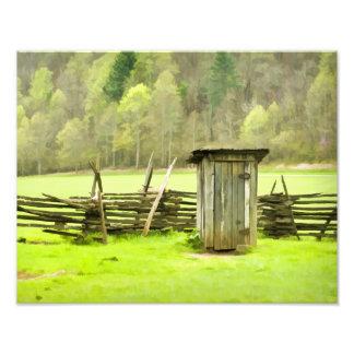Smoky Mountains Outhouse Travel Phtography Photo Print