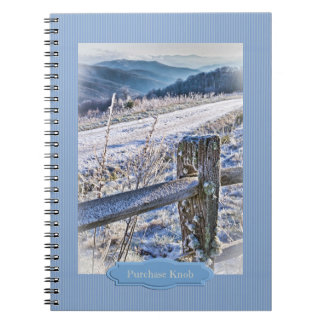 Smoky Mountains, Purchase Knob Winter Scenic View Spiral Notebook