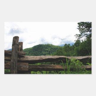Smoky Mountains Rectangular Sticker