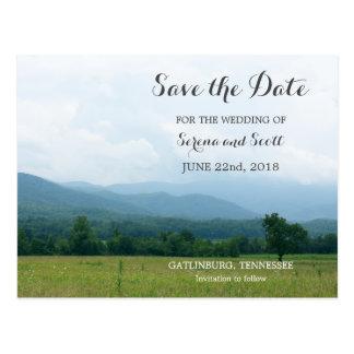Smoky Mountains Save the Date Postcard