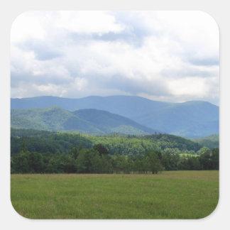 Smoky Mountains Square Sticker
