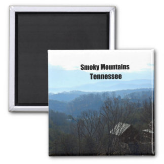Smoky Mountains, Tennessee 2 Inch Square Magnet