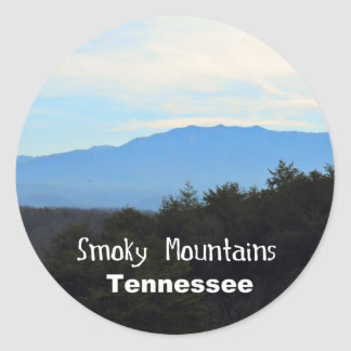 Smoky Mountains, Tennessee Classic Round Sticker