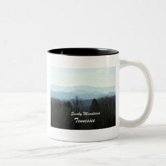 Smoky Mountains, Tennessee Two-Tone Coffee Mug