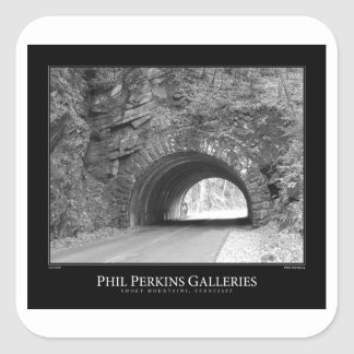Smoky Mountains Tunnel Square Sticker