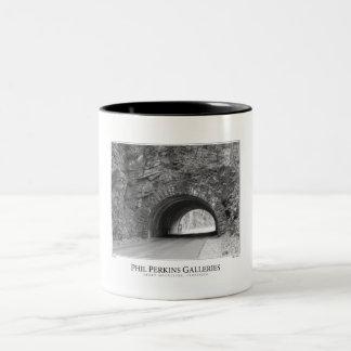 Smoky Mountains Tunnel Two-Tone Coffee Mug