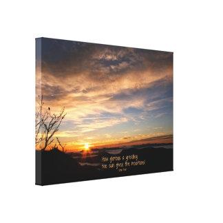 Smoky Mtn Sunrise/How Glorious… J Muir Canvas Print