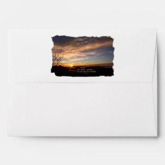 Smoky Mtn Sunrise/How Glorious… J Muir Envelope