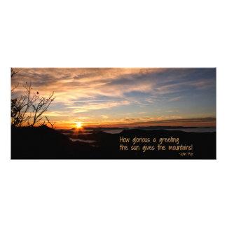Smoky Mtn Sunrise/How Glorious… J Muir Rack Card