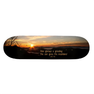 Smoky Mtn Sunrise/How Glorious… J Muir Skate Deck