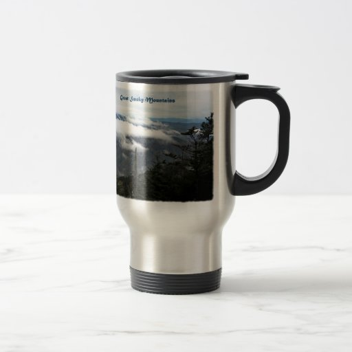 Smoky Mtns above the clouds 15 Oz Stainless Steel Travel Mug