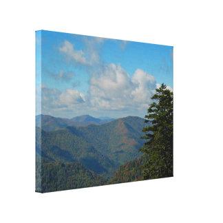 Smoky Mtns Fall Landscape Canvas Print