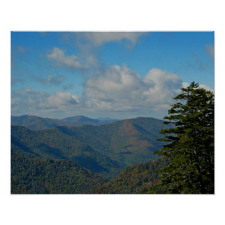 Smoky Mtns Fall Landscape Poster