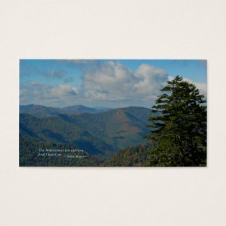 Smoky Mtns: Mtns are calling… John Muir Business Card
