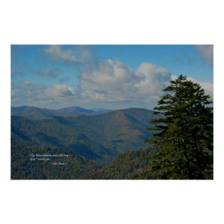 Smoky Mtns: Mtns are calling... John Muir Poster