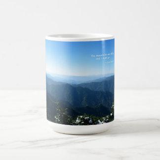 Smoky Mtns w/snow: Mtns are calling...John Muir Coffee Mug