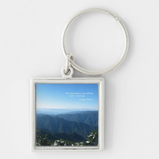 Smoky Mtns w/snow: Mtns are calling...John Muir Key Chains