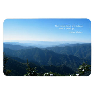 Smoky Mtns w/snow: Mtns are calling...John Muir Magnet