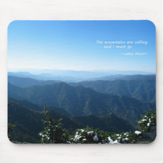 Smoky Mtns w/snow: Mtns are calling...John Muir Mouse Pad