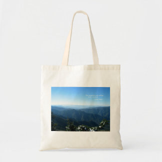 Smoky Mtns w/snow: Mtns are calling...John Muir Tote Bag