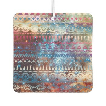 Aztec Themed Smoky Pastel Aztec Night Sky stars pink blue mauve Car Air Freshener