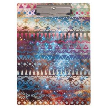 Aztec Themed Smoky Pastel Aztec Night Sky stars pink blue mauve Clipboard