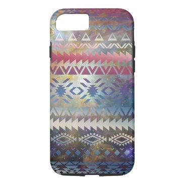 Aztec Themed Smoky Pastel Aztec Night Sky stars pink blue mauve iPhone 7 Case