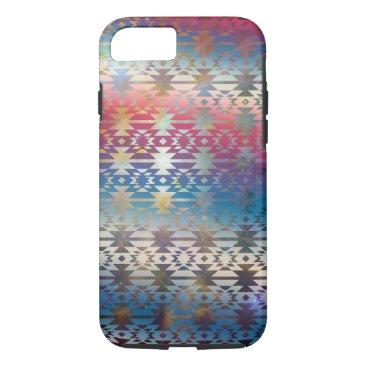 Aztec Themed Smoky Pastel Aztec Night Sky stars pink blue mauve iPhone 8/7 Case
