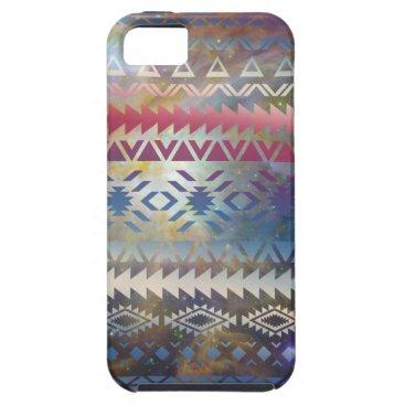 Aztec Themed Smoky Pastel Aztec Night Sky stars pink blue mauve iPhone SE/5/5s Case