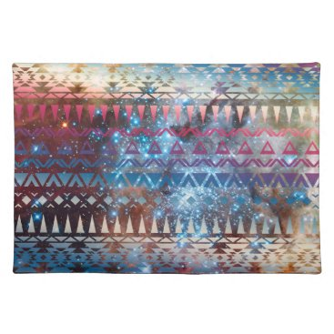 Aztec Themed Smoky Pastel Aztec Night Sky stars pink blue mauve Placemat