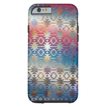 Aztec Themed Smoky Pastel Aztec Night Sky stars pink blue mauve Tough iPhone 6 Case