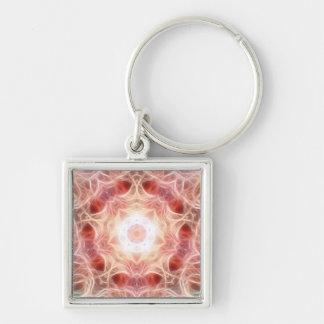 Smoky Pink Mandala Keychain