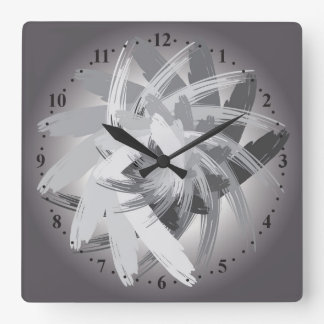 smoky whirlwind square wall clock