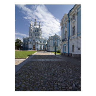 Smolny Cathedral in St. Petersburg, Russia Postcard