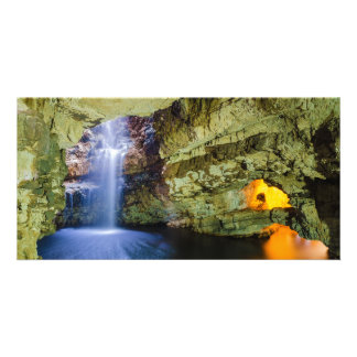 Smoo Cave Durness in Sutherland Highland Scotland Card