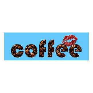 smooch del café tarjetas de visita mini