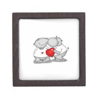 Smooch - Hippo Kiss Valentine's Day Keepsake Box