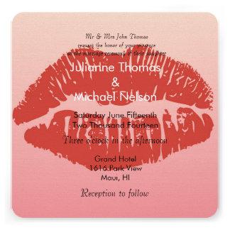 Smooch Lips Wedding Announcement