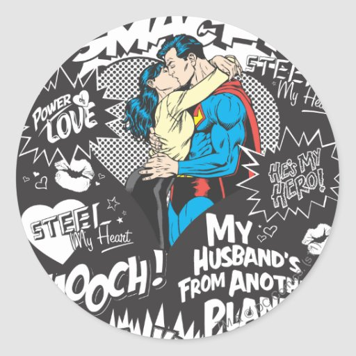 Smooch, Smack - Collage Stickers