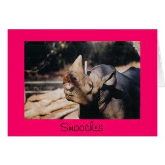 Smooches Greeting Card