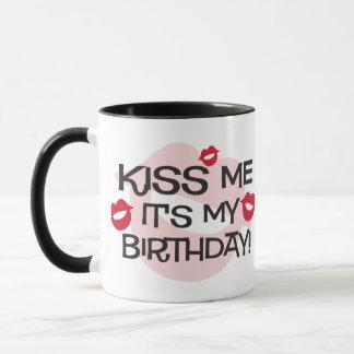 Smooches Kiss Me Birthday Mug