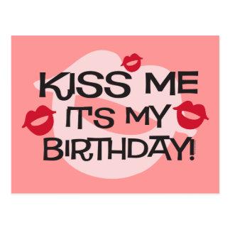 Smooches Kiss Me Birthday Postcard
